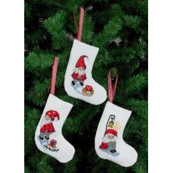 3 stk. Små julesokker med 3 forskellige motiver 21-4235