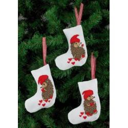3 stk. Små julesokker med 3 forskellige motiver 21-4237