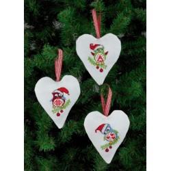 3 stk. Små julesokker med 3 forskellige motiver 21-4238
