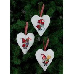 3 stk. Små julesokker med 3 forskellige motiver 21-4236