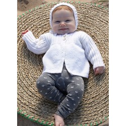 Baby Merino Cardigan og Kyse - sælges kun sammen med garn