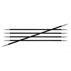 KnitPro strømpepinde 20 cm i kulfiber