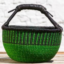 Strikkekurv Ø28 cm grøn