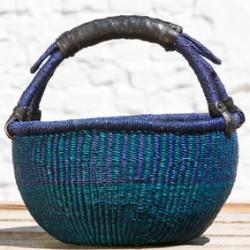 Strikkekurv Ø28 cm blå