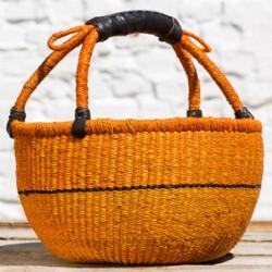 Strikkekurv Ø28 cm gul