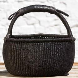 Strikkekurv Ø28 cm sort