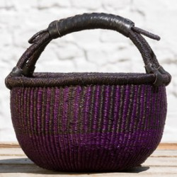 Strikkekurv Ø28 cm violet