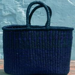 Indkøbskurv oval Ø 40 x 23 cm blå