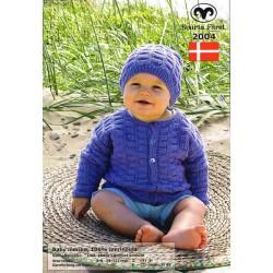 Baby Merino Cardigan og hue - sælges kun sammen med garn
