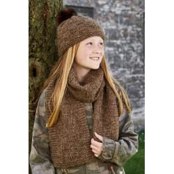 Alice hue og halstørklæde - sælges kun sammen med garn