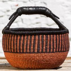 Strikkekurv Ø28 cm brun